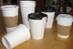 A Variety of Cups, Lids, and Sleeves
