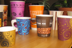 A variety of Custom Print Cups